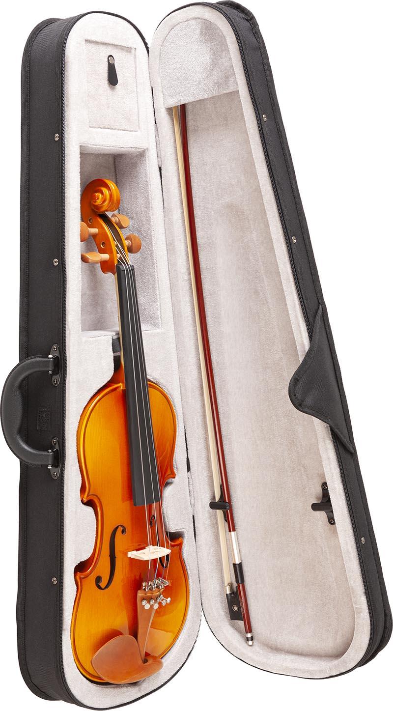 ve442 violino eagle ve442 estojo aberto vertical
