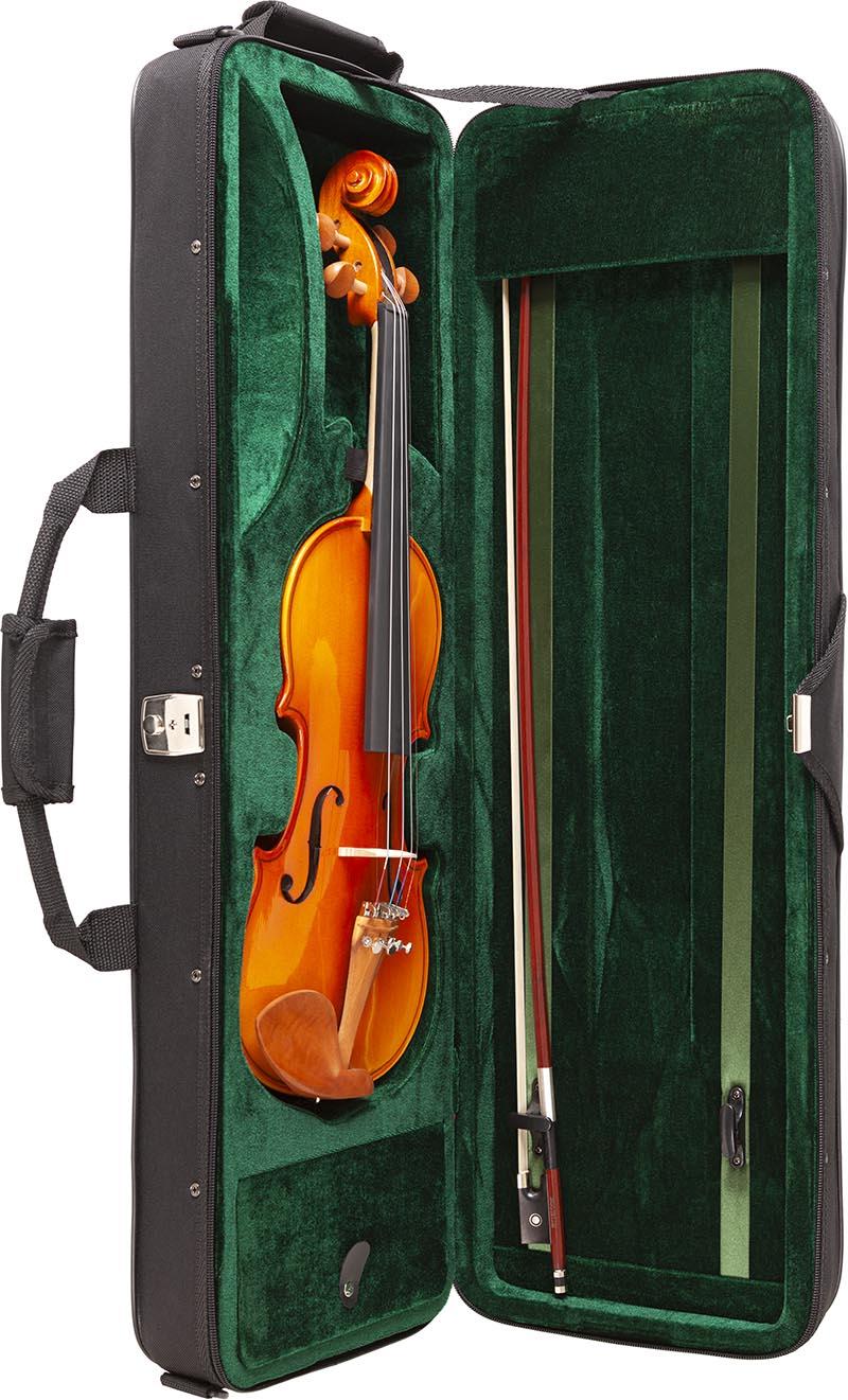 ve443 violino eagle ve443 estojo aberto vertical