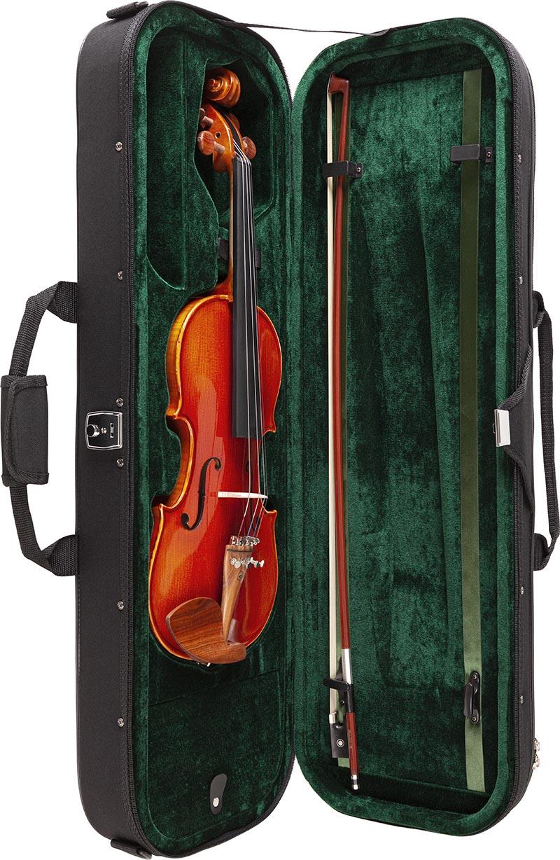 ve445 violino eagle ve445 estojo aberto vertical