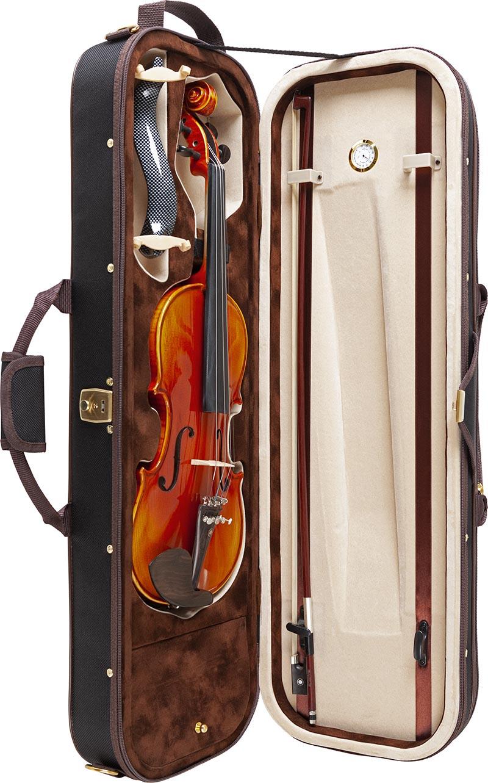 ve845 violino eagle ve845 estojo aberto vertical