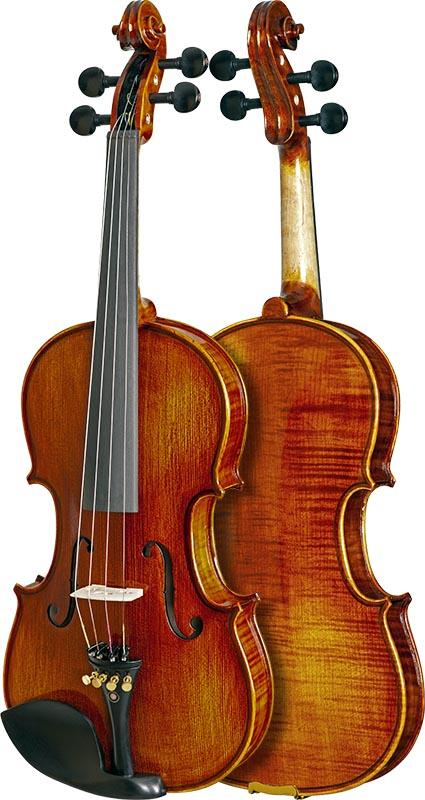 violino profissional eagle master series vk544 frente verso