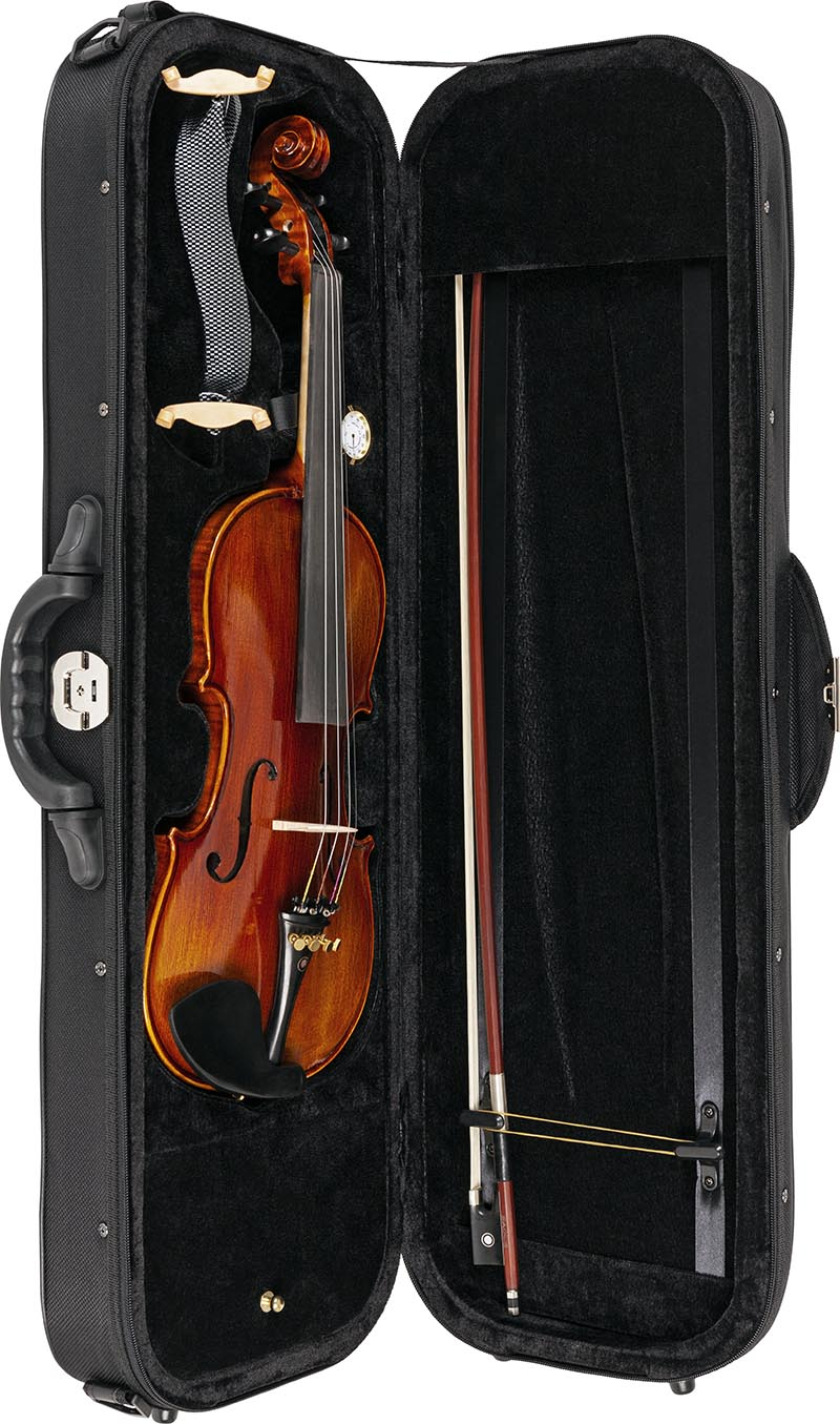 vk544 violino eagle vk544 estojo aberto vertical
